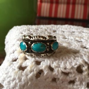 Vintage Turquoise Sterling Ring